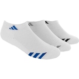 Adidas Striped 3 Pack No Show Junior's Tennis Socks White
