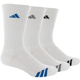 Adidas Striped 3 Pack Crew Junior's Tennis Socks White