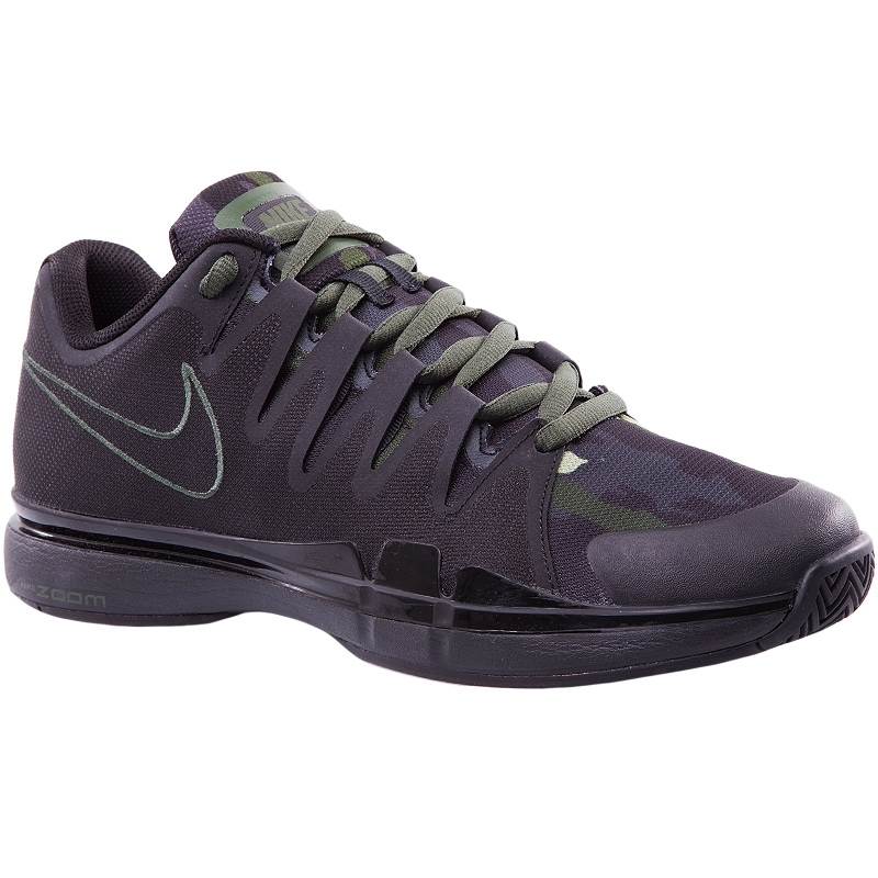 nike zoom vapor 9 5 tour junior tennis shoe black green
