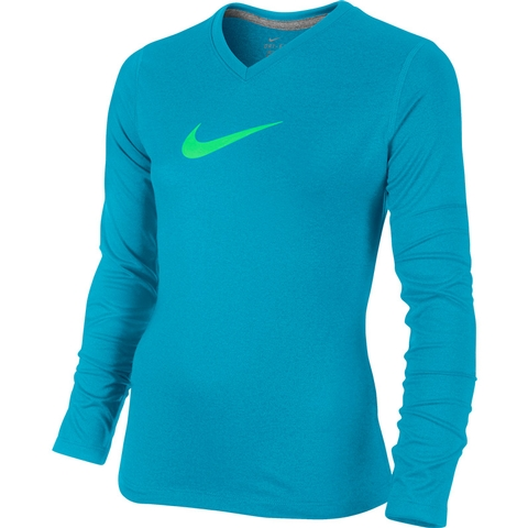 Nike Legend Swoosh V- Neck Girl's Top