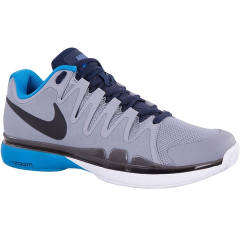 Nike Menns Zoom Damp 9,5 Tour Tennissko - Grå / Blå Farge
