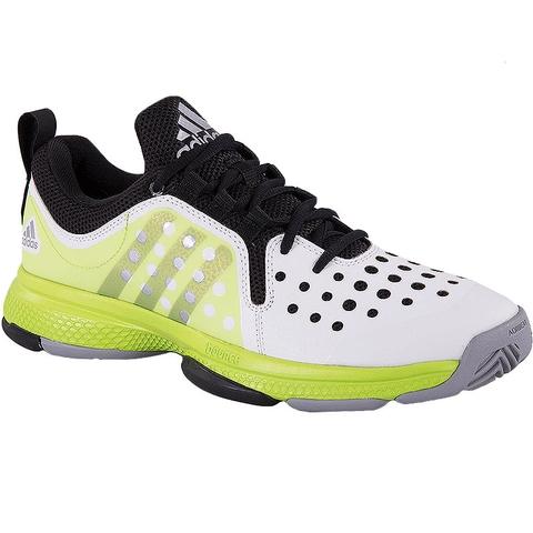 adidas barricade classic bounce s tennis shoe white lime
