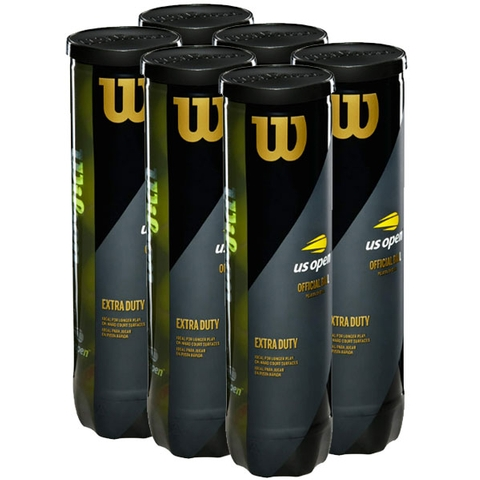 Wilson Us Open Extra Duty 6 Can Pack Tennis Balls - 4 Ball Cans
