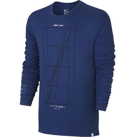 Nike Court Agassi Long Sleeve Men's Tennis Crew