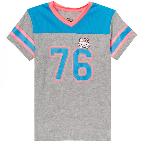 Hello Kitty V- Neck Girl's Tennis Tee