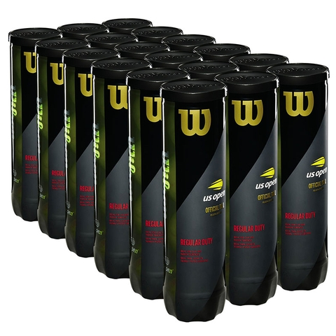 Wilson Us Open Regular Duty Tennis Balls Case - 4 Ball Cans