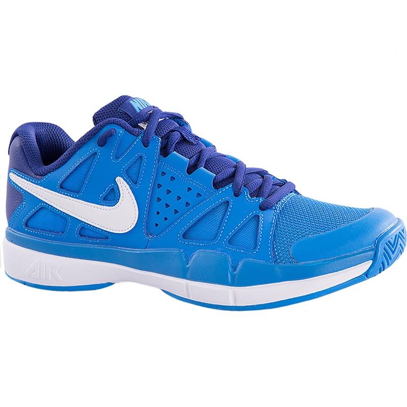 nike air vapor advantage s tennis shoe blue white