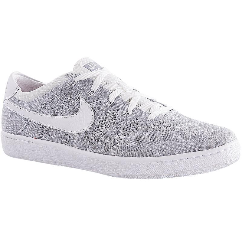 nike classic ultra flyknit s tennis shoe grey white