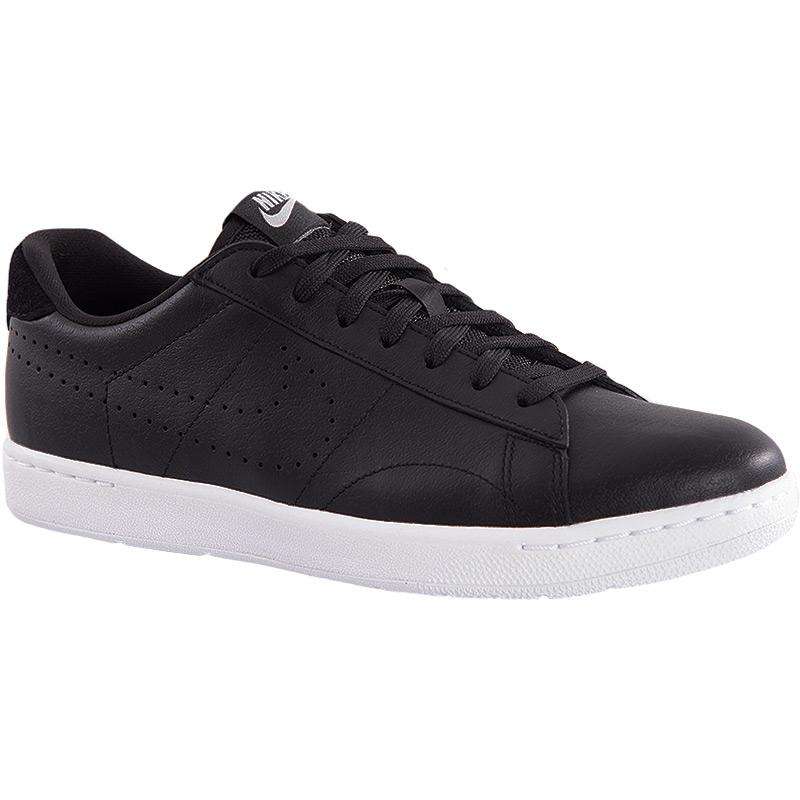 nike classic ultra leather s tennis shoe black white