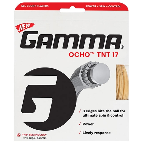 Gamma Ocho Tnt 17 Tennis String Set