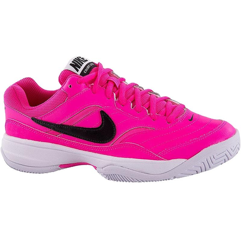 nike court lite s tennis shoe pink black
