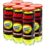 Penn Championship Regular Duty 6 Can Pack Tennis Balls
