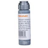 Head Tennis Stencil Ink Silver