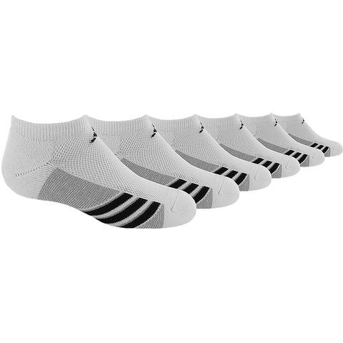 Adidas Striped 6 Pack No Show Junior's Tennis Socks