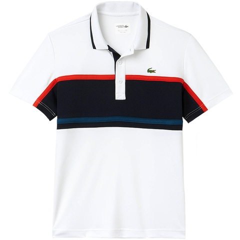 Lacoste Ultradry Chest Stripe Men's Tennis Polo