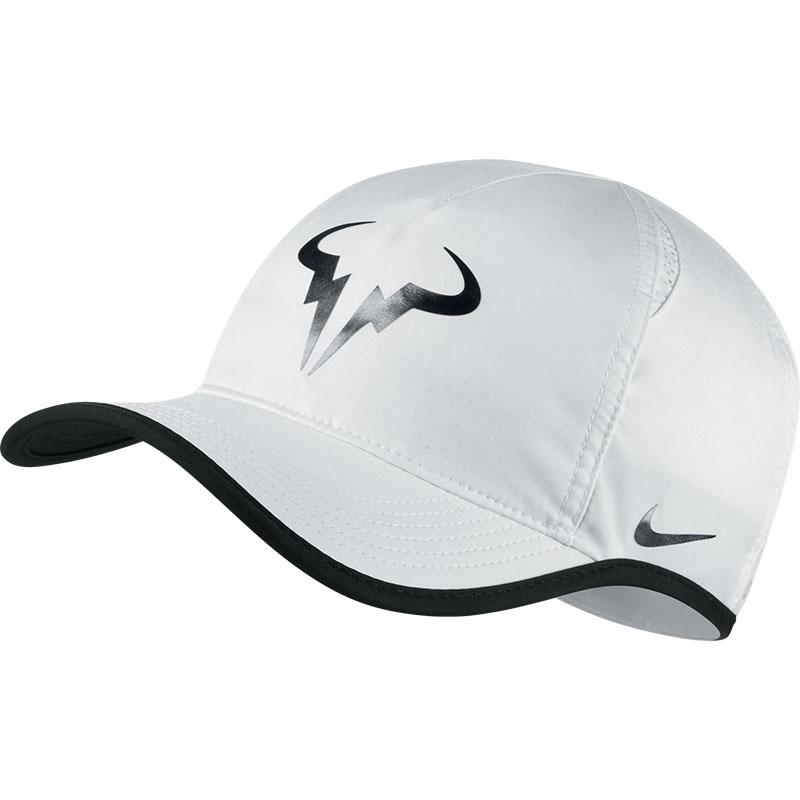 Nike Rafa Iridescent Featherlight Men S Tennis Hat White Black