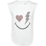 Lucky In Love Rhinestone Smile Girl's Tennis Tank