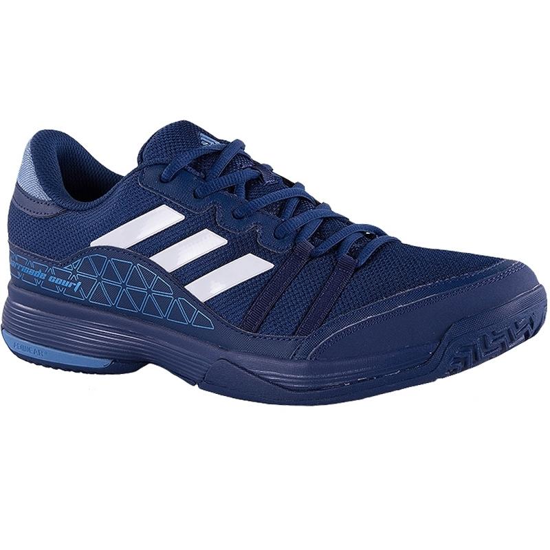 adidas barricade court s tennis shoe blue silver
