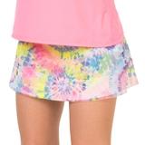 Lucky In Love Mesh Tie- Dye Scallop Girl's Tennis Skirt