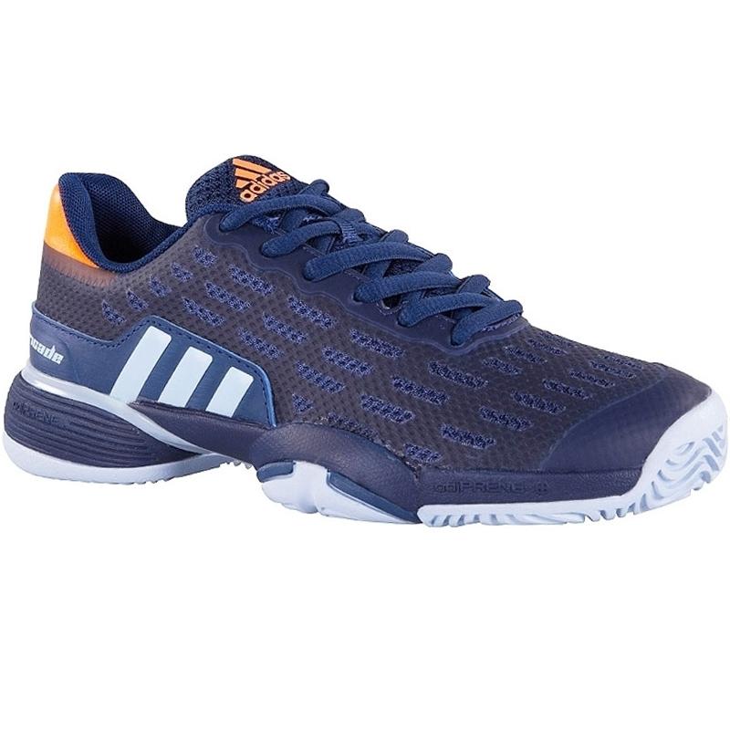 Adidas Barricade  Xj Blue Orange Junior Shoes