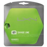 Luxilon Savage Lime 16 Tennis String Set