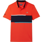 Lacoste Chest Stripe Ultradry Pique Men's Tennis Polo