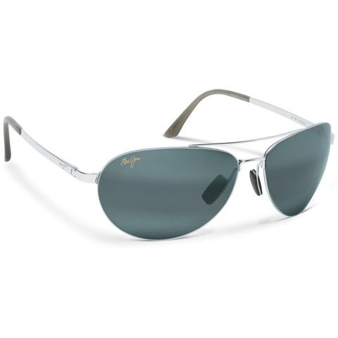 Maui Jim Grey Pilot Silver Tennis Sunglasses