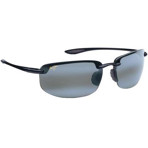 Maui Jim Grey Hookipa Gloss Black Tennis Sunglasses