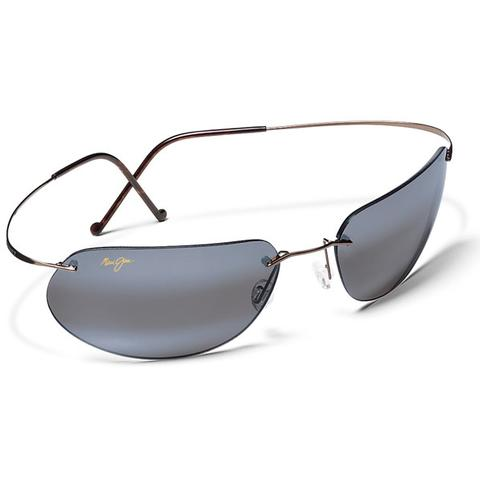 Maui Jim Grey Ka ` Anapali Titanium Gunmle Tennis Sunglasses