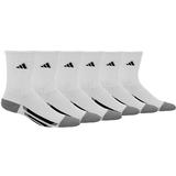 Adidas Striped 6 Pack Crew Juniors Tennis Socks