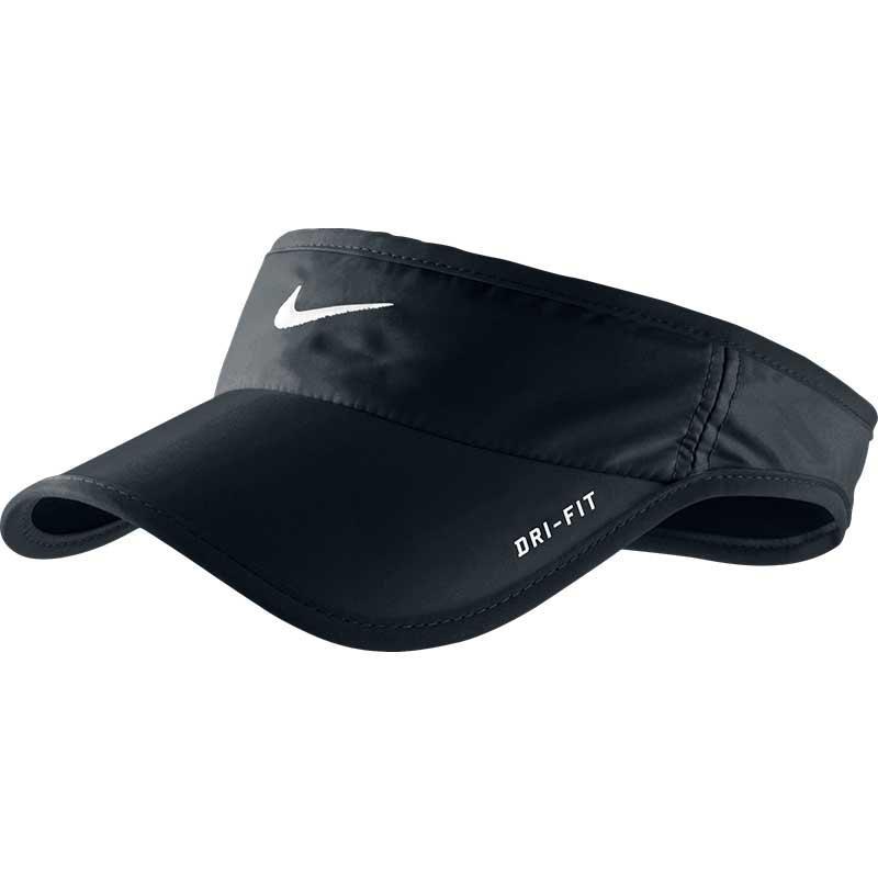 Nike Featherlight Dri Fit Tennis Visor Black