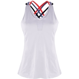 Lucky in Love Double Cross W/Bra Women's Tennis Tank