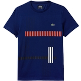Lacoste Vertical Stripe Graphic Men's Tennis T-Shirt