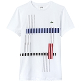 Lacoste Vertical Stripe Graphic Men's Tennis T- Shirt