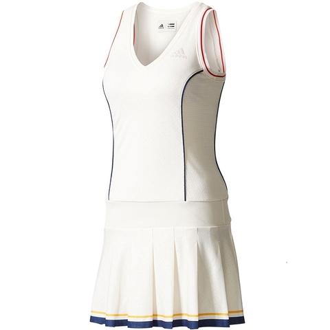 aaceb1222e2f8 Adidas Pharrell Williams NY Solid Women s Tennis Dress White blue yellow