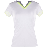 Lucky In Love V Neck Women's Tennis Top
