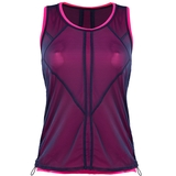Lucky in Love Mesh Layered Bungee Women's Tennis Tank