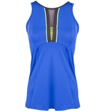 Lucky In Love Plunge Women's Tennis Tank