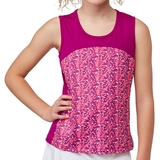 Fila Abstract Court Girl's Tennis Tank