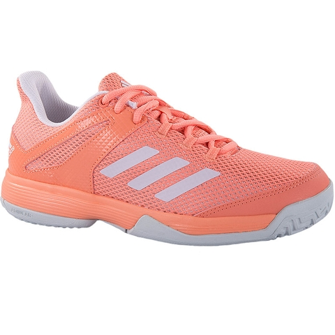 Adidas Adizero Club K Junior Tennis Shoe Coral white 4dfd7011bc