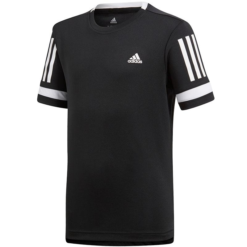 the best attitude 0c258 0887d Adidas Club 3 Stripes Boy s Tee Black
