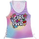 Lucky In Love Girl Power Rib Girl's Tennis Tank