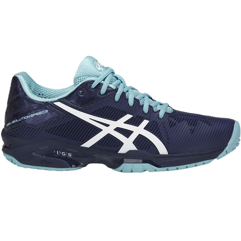 ASICS SOLUTION SPEED FF CLAY - Outdoor tennis shoes - azure/white yZM9c9