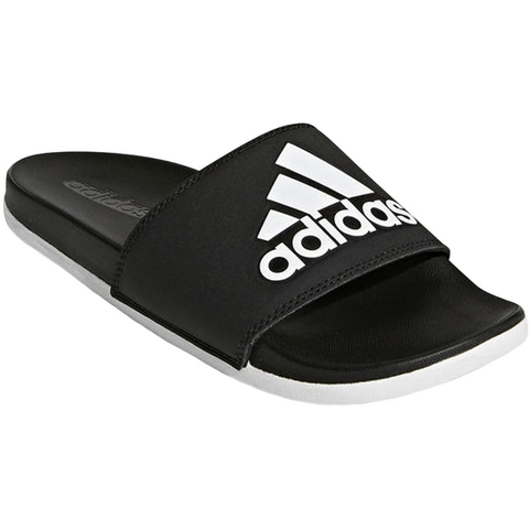 997eff8562d2 Adidas Adilette Cloudfoam Plus Women s Slides Black white