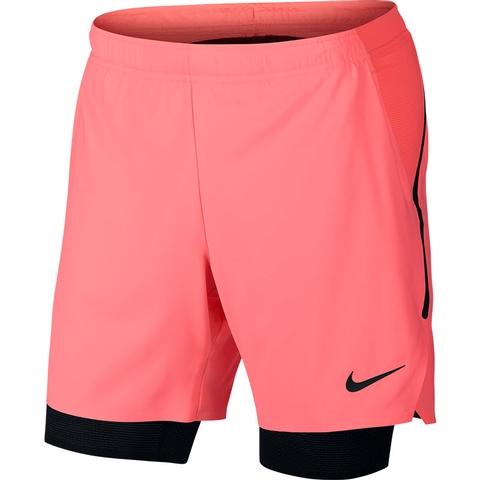 108d2ab26fbd2 Nike Flex Ace Pro 7 Men s Tennis Short Lava black