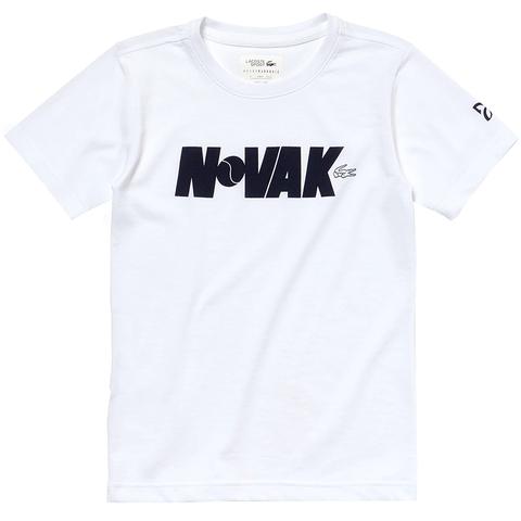 Lacoste Novak Boy S Tennis T Shirt White