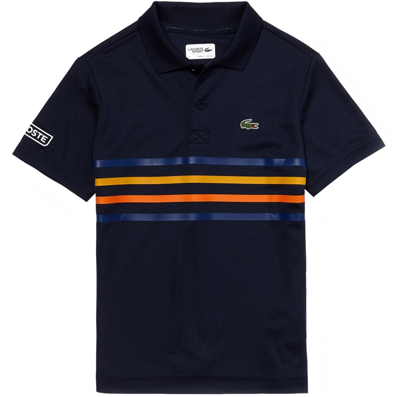 1ec41d554fc6 Lacoste Ultra Dry Boy s Tennis Polo Navy