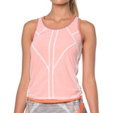 Lucky in Love Mesh Layered Bungee Women's Tank