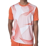 Athletic DNA Mesh Linear Waves Men's Tennis Crew