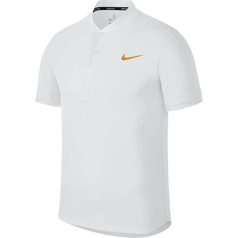 dbd273a9 Nike Advantage Solid Men's Tennis Polo White/goldleaf